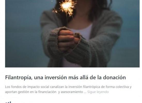 Filantropía. Más allá de la donación